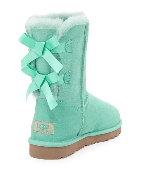 ugg bailey bow back boot in blue aqua lyst