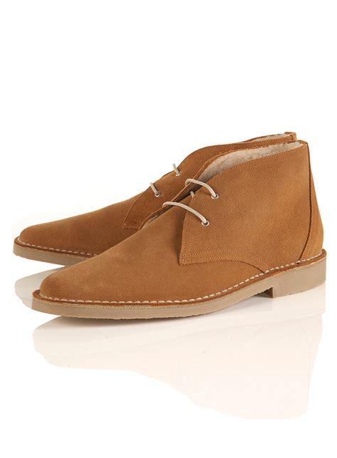mens boots topman topman arctic desert boot in brown for lyst