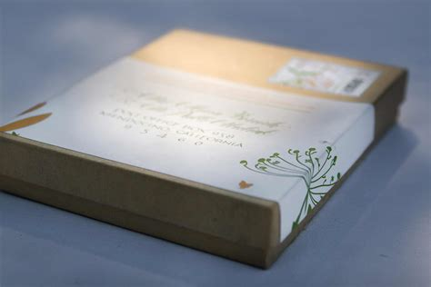 Wedding Invitations In A Box by Letterpress Wedding Invitations In A Box Studio Z Mendocino