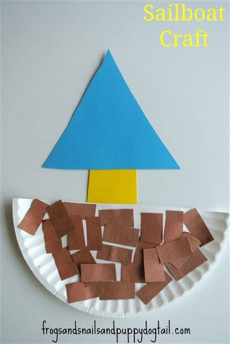 Paper Boat Craft For Preschoolers - 25 unique transportation crafts ideas on