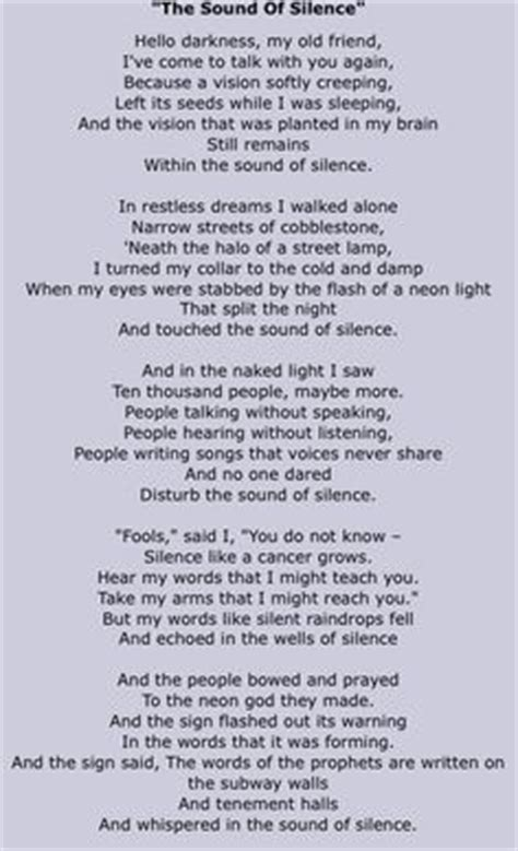 sound of silence testo simon and garfunkel the boxer lyrics the