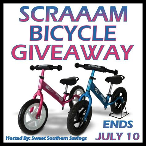 Bike Sweepstakes - scraaam balance bike giveaway