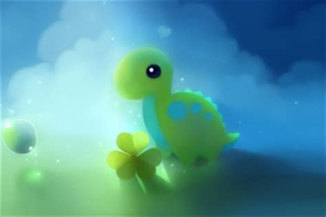 Free cute green dino picture for widescreen desktop pc 1920x1080 full