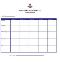 homework sheet template daily reading log for high school students reading
