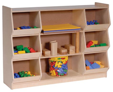 steffywood home school classroom kids play block toy storage cabinet shelf contemporary toy