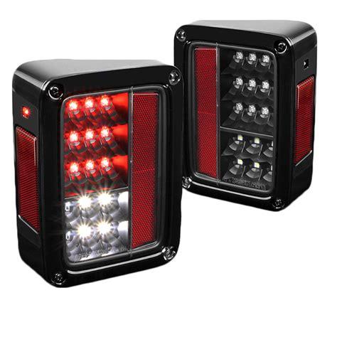 jeep wrangler black tail lights 2007 2015 jeep wrangler full led performance tail lights