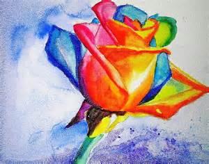rainbow rose painting by carlin blahnik