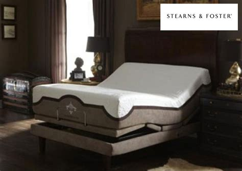 stearns and foster adjustable bed mattress and more reflexion 7 queen adjustable power base