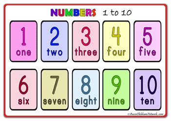 one to ten and number posters aussie childcare network