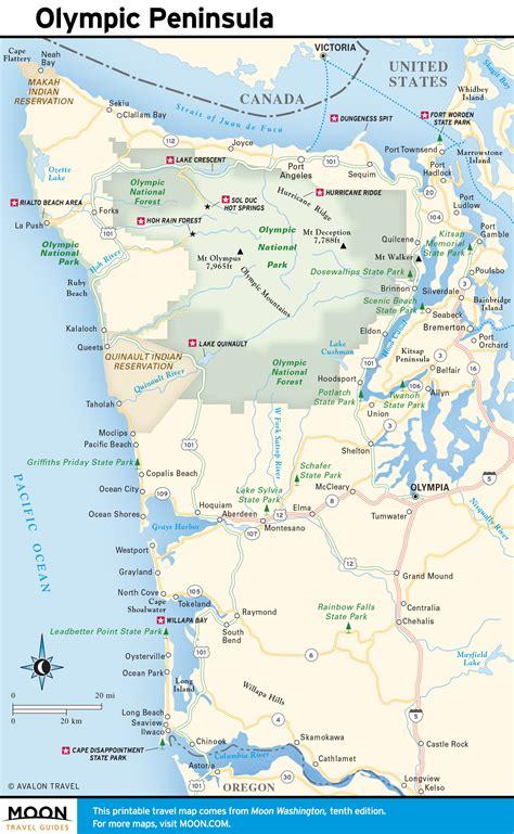 washington coast map printable travel maps of washington state moon travel guides