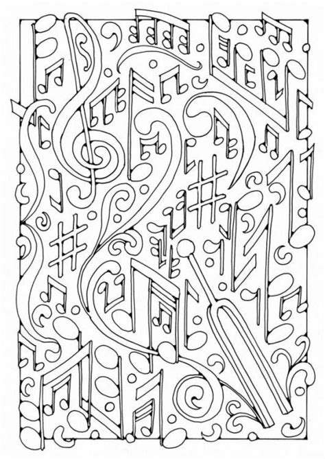hard coloring pages for teachers very difficult music coloring pages for adult enjoy