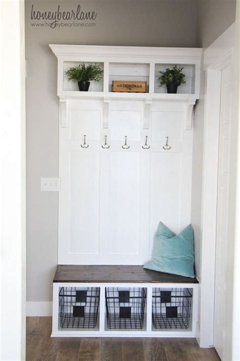 small mudroom bench small and functional diy mud rooms mud rooms small