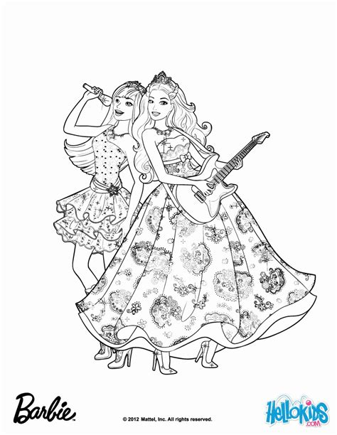 printable pop star coloring pages barbie princess and the popstar coloring pages coloring home