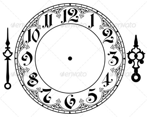 free printable cd clock faces best photos of printable antique clock face template