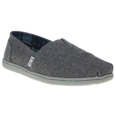 new womens skechers grey bobs bliss canvas shoes slip on