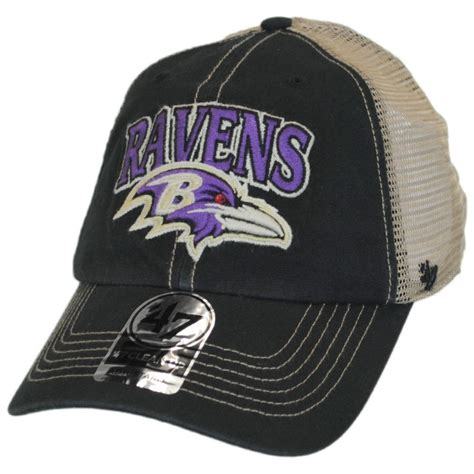 baseball cap logos of brands 47 brand baltimore ravens nfl tuscaloosa mesh fitted