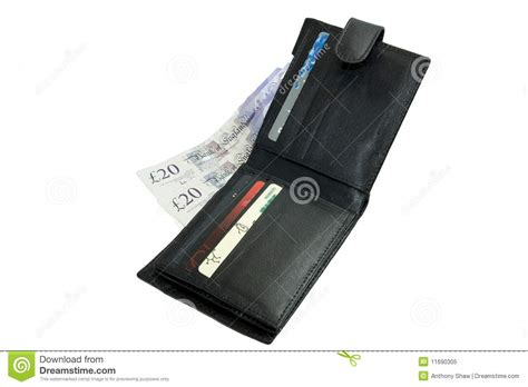 Gift Card With Money - wallet with money and cards royalty free stock photo image 11690305