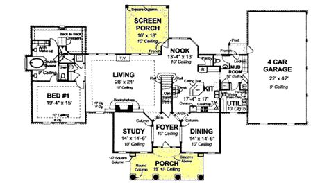greek revival house plan with 1720 square feet and 3 greek revival style house plans 4166 square foot home
