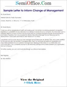 Business Change Manager Cover Letter by Letter To Inform Change Of Management