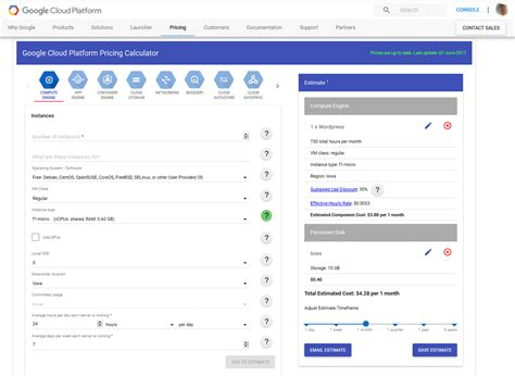 calculator google cloud gcp pricing calculator techworked
