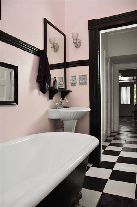 black white and red bathroom decorating ideas small bathroom spectacularly pink bathrooms that bring retro style back