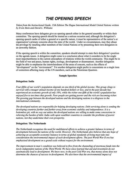 Mun Resolution Template by Position Paper Sle Mun