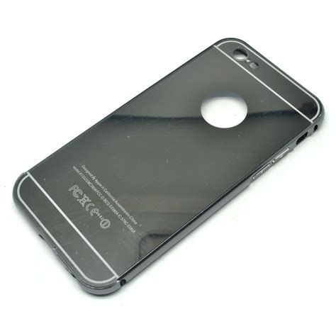 Aluminium Bumper With Mirror Back Er For Meizu Meizu Mx5 Hitam Silver aluminium bumper with mirror back cover for iphone 6 6s