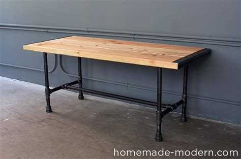 iron pipe desk plans modern ep68 pipe coffee table