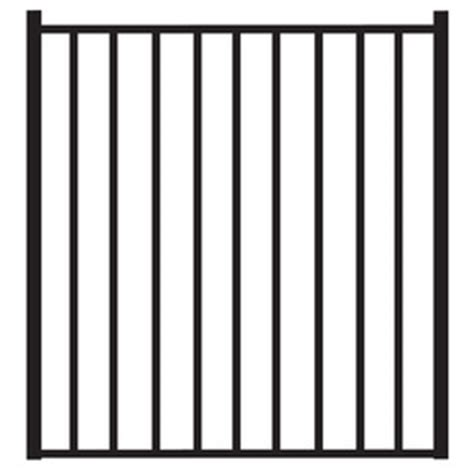 shop freedom easton black aluminum decorative fence gate