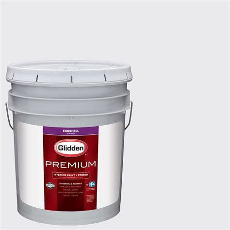 Home Depot 5 Gallon Interior Paint Glidden Premium 5 Gal Hdgcn35 White Eggshell Interior Paint With Primer Hdgcn35p 05en