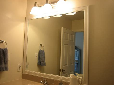 Framing Bathroom Mirror With Molding Diy Mirror Frame Tips And Tricks For Beautiful Decoration