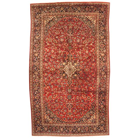 4 x 9 rug knotted 1960 s semi antique kashan wool rug 9 4 x 15 10 herat rugs