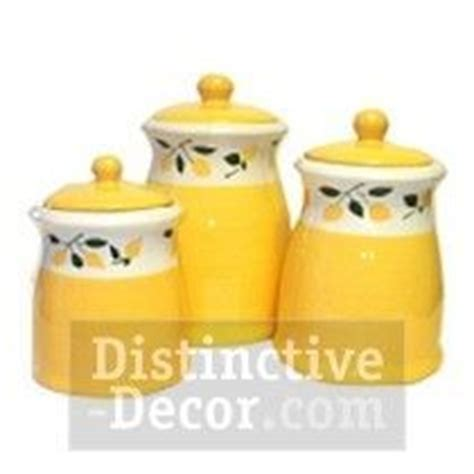 keramik k chen kanister sets gorgeous lemon kitchen canisters vintage set by