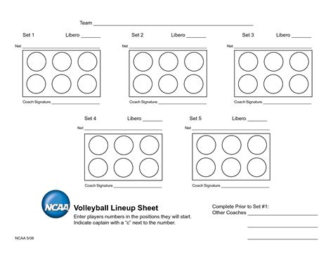 printable high school volleyball lineup sheets volleyball coaches lineup sheet related keywords