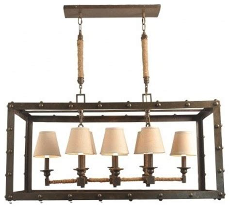 rustic iron rectangular chandelier industrial chandeliers