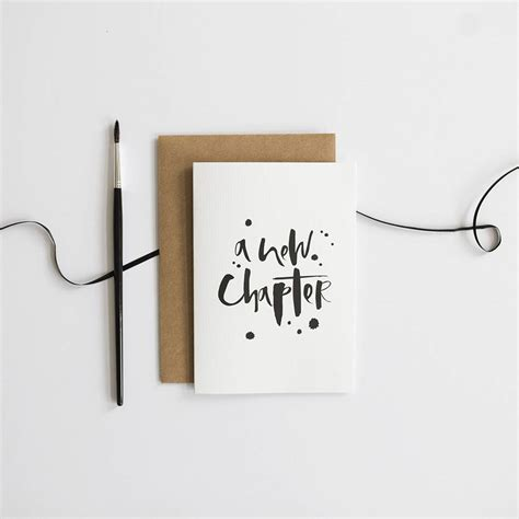 new chapter a new chapter card by wordy notonthehighstreet