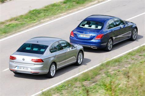 volkswagen vs mercedes comparison mercedes c 350e vs vw passat gte