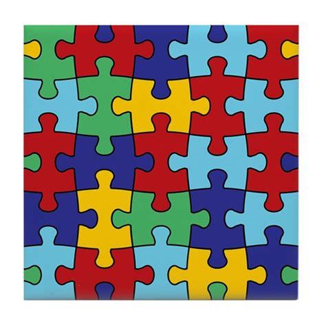 tile pattern puzzle kotor autism awareness puzzle piece pattern tile coaster by