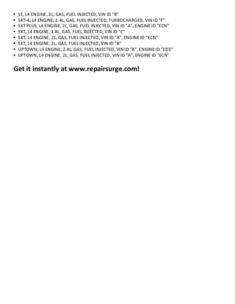 dodge caliber repair manual 2007 2012 dodge caliber repair manual 2007 2012
