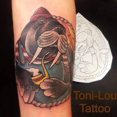 walrus tattoo 24 best dead romanoff tattoos by marta lipinski images on