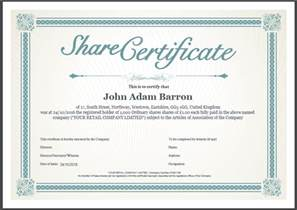 Stock Certificate Template Free Another Inform Direct Product Update October 2016