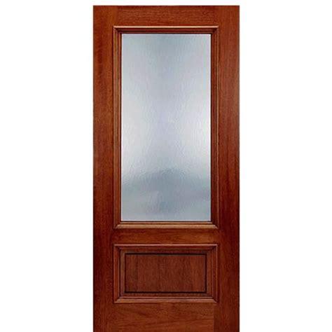 Door Bottoms For Exterior Doors Mai Doors Dt 20 1 Single Exterior Panel Bottom Door Mahogany 3 4 Lite With Flemish Glass At