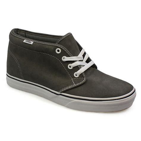 mens vans chukka boots vans chukka boot grey white mens womens high top canvas