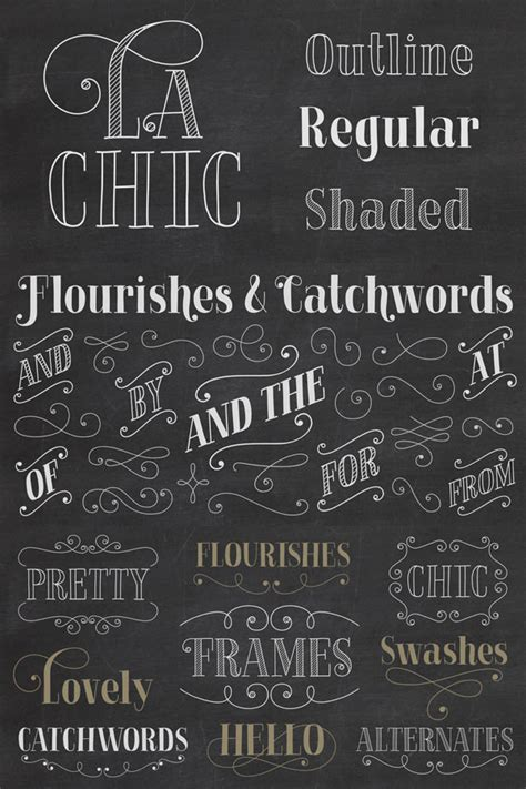 Font Handmade - la chic font family from cultivated mind