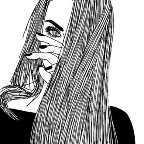 imagenes tumblr para dibujar hipster dibujo chica mirar el dibujo dibujos de chicas cabello