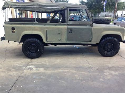 how to sell used cars 1986 land rover range rover electronic valve timing buy used 1986 land rover defender ex mod 2 5 diesel in pinellas park florida united states