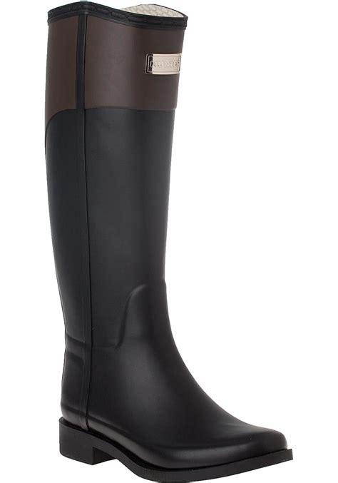 Cece Boot cece rubber boots in black lyst