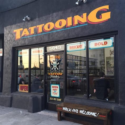 my tattoo shop hollywood high seas in west the