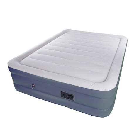 stansport double high deluxe air bed built  pump
