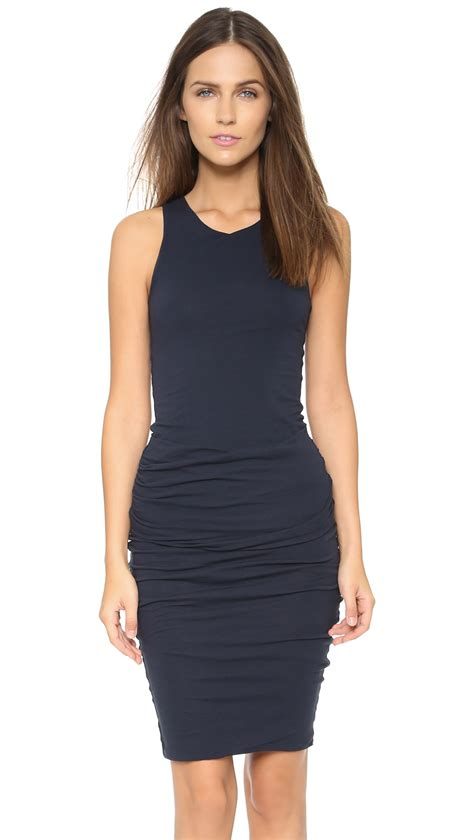 Tank Dress One Day Delivery by Ruched Tank Dress In Blue Lyst